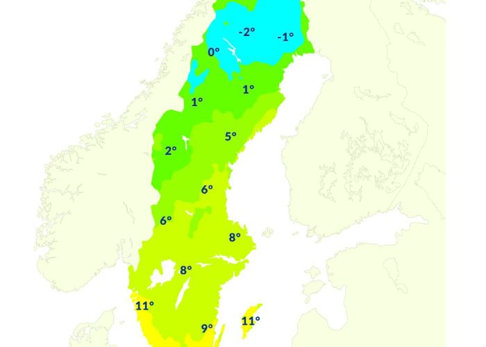Temperaturer Sverige